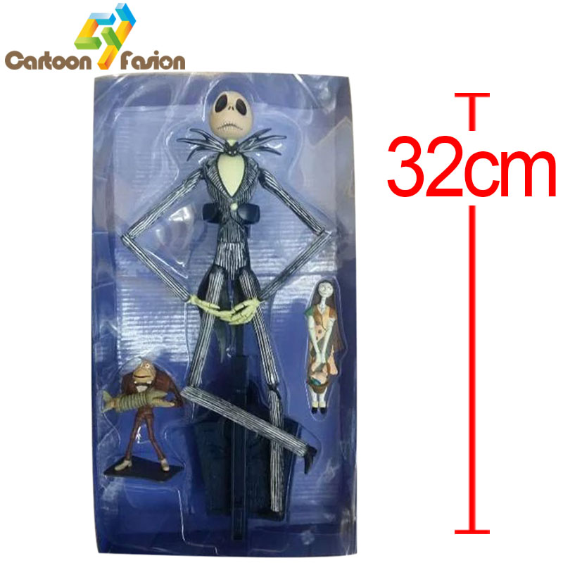 Cartoon NightMare Before Christmas Jack Skellington Action Figure Collectible Model Toy Christmas Gifts Halloween Gift 32cm 26cm crazy toys 16th super hero wolverine pvc action figure collectible model toy christmas gift halloween gift