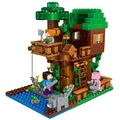 406 Unids Ilumina Mina Mundo Minecrafted MinifiguresBrick Mi Arte Figuras Niños Juguetes Educativos Bloques de Construcción de La Casa Del Árbol