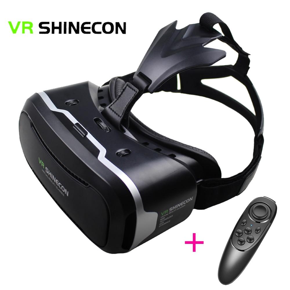 3D font b VR b font Shinecon 2 0 Virtual Reality Glasses helmet Box Glasses Case