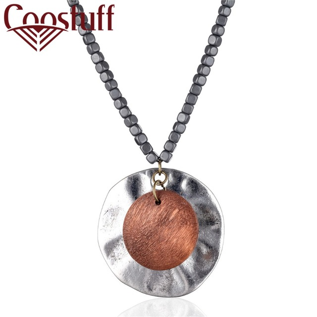 808eb0bb167a 2018 Statement Necklace Wood Silver Women Jewelry Long necklaces necklaces    pendants women collares mujer choker kolye bijoux