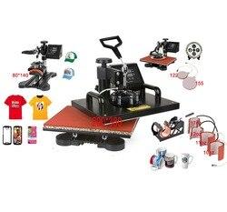 Nuevo diseño avanzado 8 en 1 Combo máquina de prensa de calor, sublimación/Prensa de calor, máquina de transferencia de calor para taza/tapa/camiseta/Fundas de teléfono