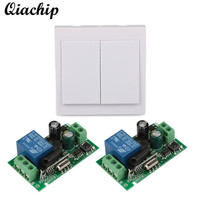 2 CH Wall Panel Switch Control Transmitter 433MHz RF Relay Receiver Module Remote 433MHz Switch Control