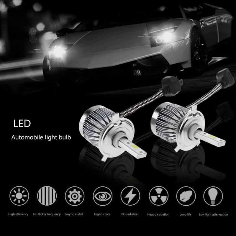 VODOOL 2pcs 9005 8000K DC12V Ice Blue Cool Bright COB LED Fog Lamp Headlight Bulbs for Universal Car High Quality