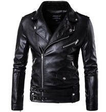 цены на New Retro Vintage Faux Leather Motorcycle Jacket Men Turn Down Collar Moto Jacket Adjustable Waist Belt Jacket Coats  в интернет-магазинах