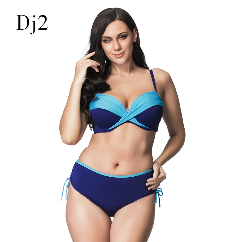 Bandeau Bikini Set Push Up 2017 Padded Plus Size Swimwear Women High Waist Bikini Swimsuit Female Sexy Bathing Suit Biquini 6XL стоимость
