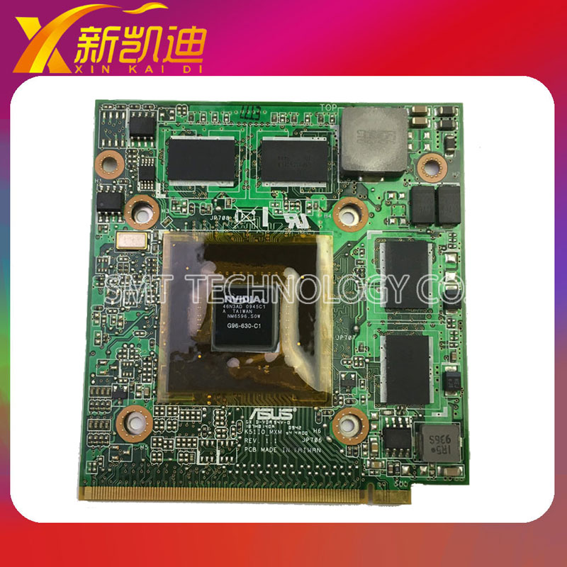 For ASUS K51 K51IO K61IC K70IO Graphic-Card VIDEO CARD G96-630-C1 VGA NVIDIA GeForce 9600M