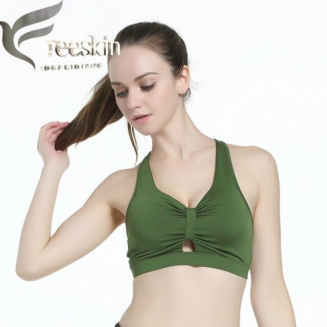 bb65321c7240d Zhangyunuo New Brassiere Sport Femme Front Bow Tie Quick Dry Women Yoga Bra  Fitness Sports Bra Black Push Up Sports Bras
