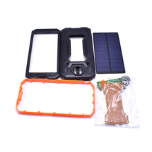 2018 Bank Solar Panel Waterproof Power Bank 2 USB Solar Charger Case With LED USB Battery Charger Cases BOX Kit