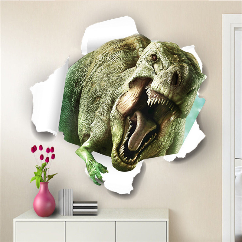 3d Dinosaur Wall Art online buy wholesale dinosaur wall stickers from china dinosaur