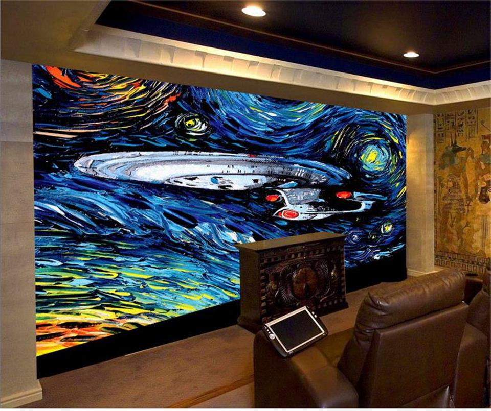 Elegant 3d Wallpaper Photo Wallpaper Custom Home Decor Livingroom Mural The Star  Trek Painting Sofa TV Background ... Part 8
