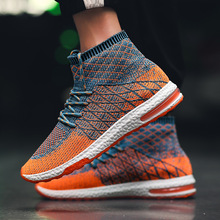 Sneakers Men Flyknit Upper Breathable Sport Shoes Sock Boots Man Chunky High Top Running for  Zapatos De Hombre