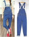 New hot denim rompers women jumpsuit spring summer European fashion female blue overalls casual pants jeans macacao feminino