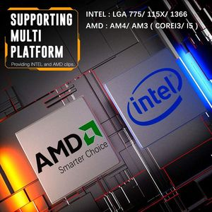 Image 3 - darkFlash CPU Cooler Radiator TDP 120W Heatsink Silent RGB PC Case Fan 120mm 4Pin CPU Cooling for LGA1151/1155/1156/1366/AM3/AM4
