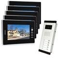 New Apartment Intercom System 7`` Color Video Door Phone intercom System video intercom  For 5 monitors 1V5 Free shipping