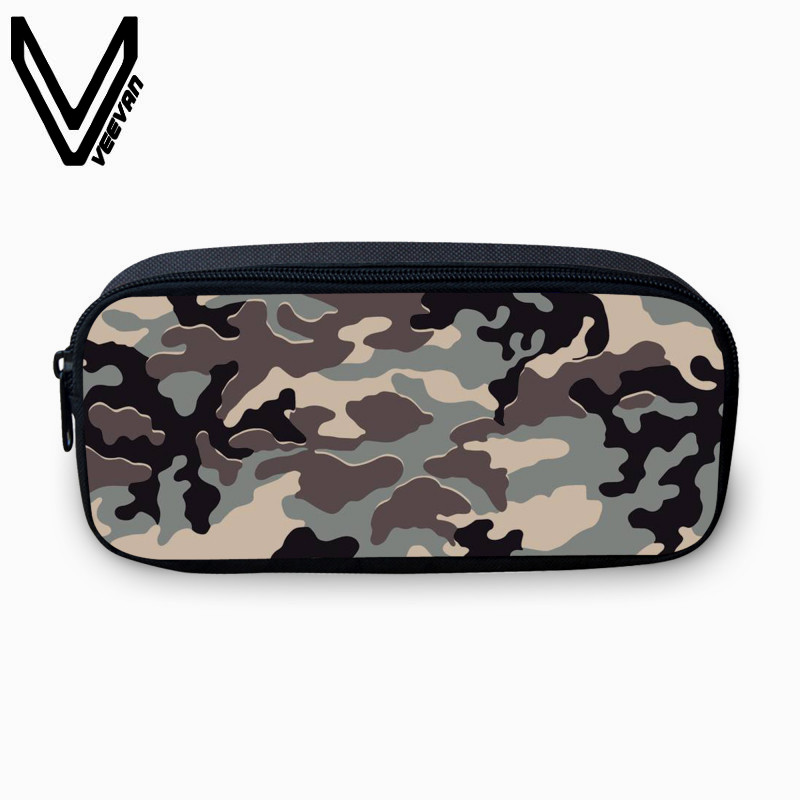 Men's Bags Methodical Veevanv Fashion 3d Printed Pencil Case Boys School Pen Storage Bags Vintage Army Green Pattern Large Wallets Children Coin Purse Smoothing Circulation And Stopping Pains