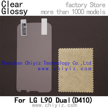 Clear Glossy screen protector protective film for LG L90 Dual Sim D410 D400HN