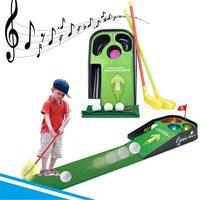 Mini Golf Câu Lạc Bộ Set Golf Bóng Sport ABS Golf Club cho trẻ em Golf Bảng Với Cờ Trẻ Em Trò Chơi Thể Thao Món Quà Đồ Chơi trẻ em