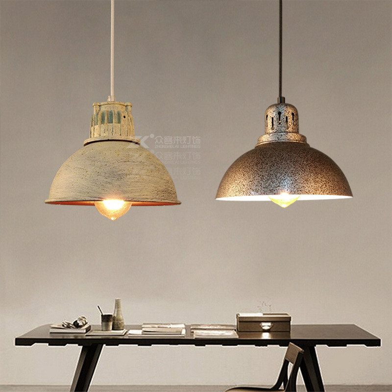 Vintage Loft Pendant Lights Wrought Iron Retro Edison Hanging Lamp Industrial Bar Living Kitchen Dining Room Lamps simple bar restaurant droplight loft retro pendant lamp industrial wind vintage iron hanging lamps for dining room