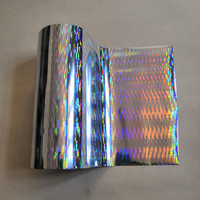 Hot stamping foil holographic foil silver thick line pattern hot press on paper or plastic heat transfer film