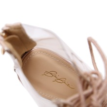 Sexy Transparent Gladiator Sandals