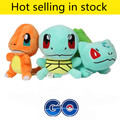 Hot Anime Plush Toys 3pcs/lot 15cm Pocket Monsters Figures Charmander Bulbasaur Squirtle Stuffed Dolls Kids Friends Gift