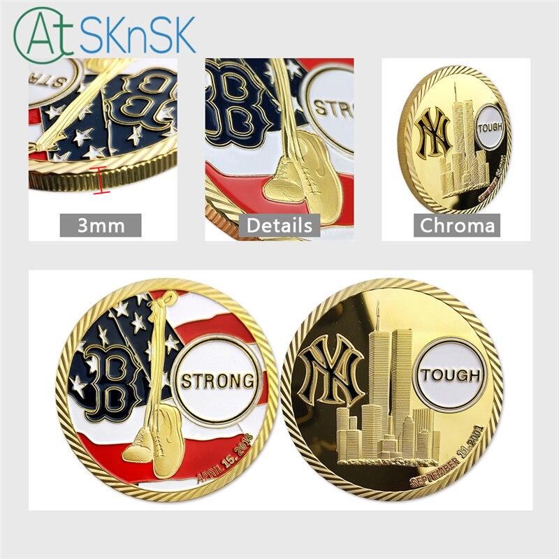 Boston Strong New York Tough Anti-Terrorism 9//11 Marathon Bombing Challenge Coin