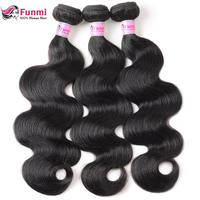 Peruvian Virgin Hair Body Wave Hair Bundles Unprocessed Natural Color Peruvian Body Wave Human Hair Bundles Funmi Virgin Hair