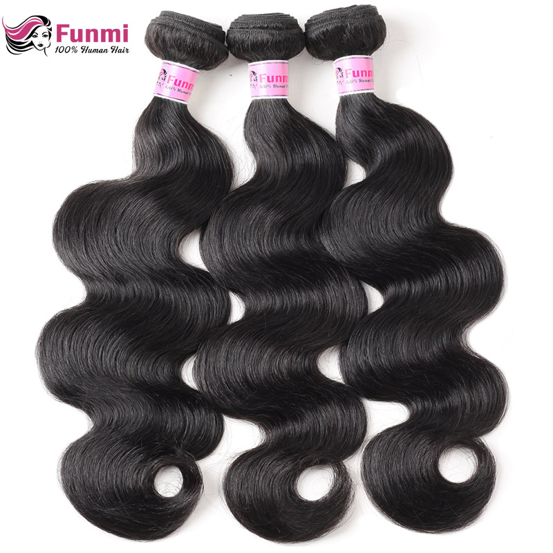 Peruvian Virgin Hair Body Wave Hair Bundles Unprocessed Natural Color Peruvian Body Wave Human Hair Bundles Funmi Virgin Hair