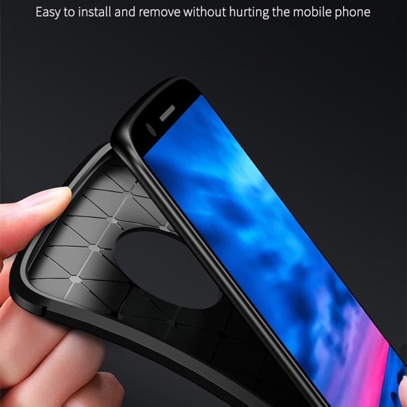 Moto G6 Case IPAKY- ի համար Moto G6 Plus Case Silicone TPU - Բջջային հեռախոսի պարագաներ և պահեստամասեր - Լուսանկար 5