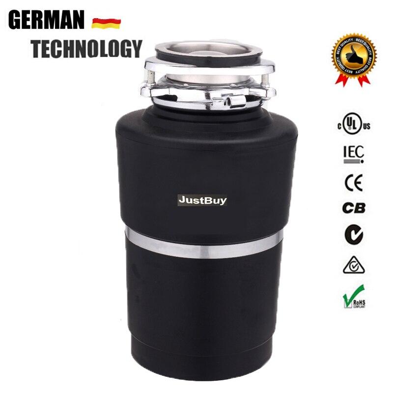 8KG Disposição Comida Lixo Triturador trituradores de resíduos Alemanha tecnologia de Motor de CORRENTE ALTERNADA de cozinha utensílios de cozinha Moedor de aço Inoxidável