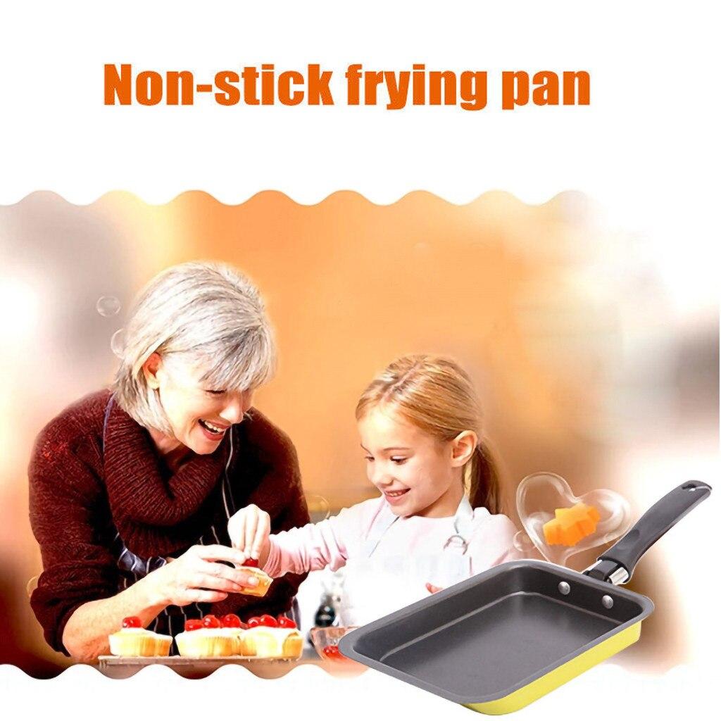 Rectangular Japanese Non-stick Frying Pan Tamagoyaki Omelette Pan Nonstick Fry Egg/ Pan Pancake Pot Kitchen Cooking Tool New