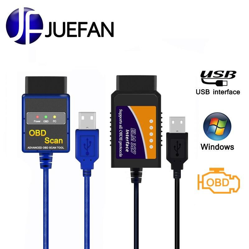 Voiture CHAUDE détecteur d'interface USB ELM327 v1.5 OBD 2 scanner diagnostique Automatique OBD2 mini orme 327 voiture outil de diagnostic OBD II scanner