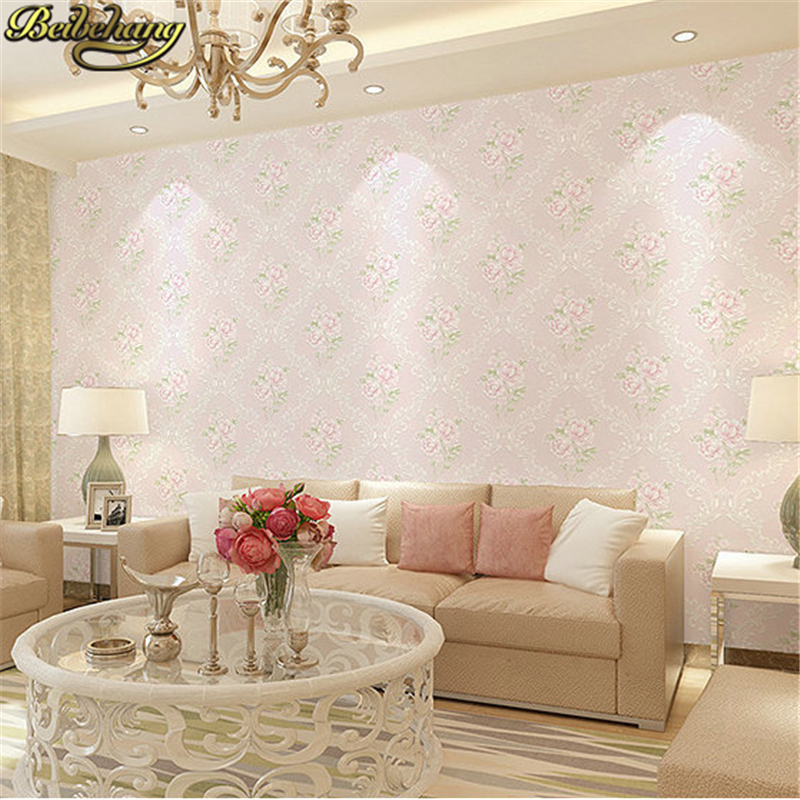 Beibehang Papel De Parede 3D Peony Floral Wallpaper For Walls 3d Flooring Wall Paper Roll For Living Room Decoration Dining Room