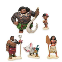 Princess Moana 5pcs Set Moana Maui Heihei Waialik Chief Tui PVC Action Figure Collectible Model Toy
