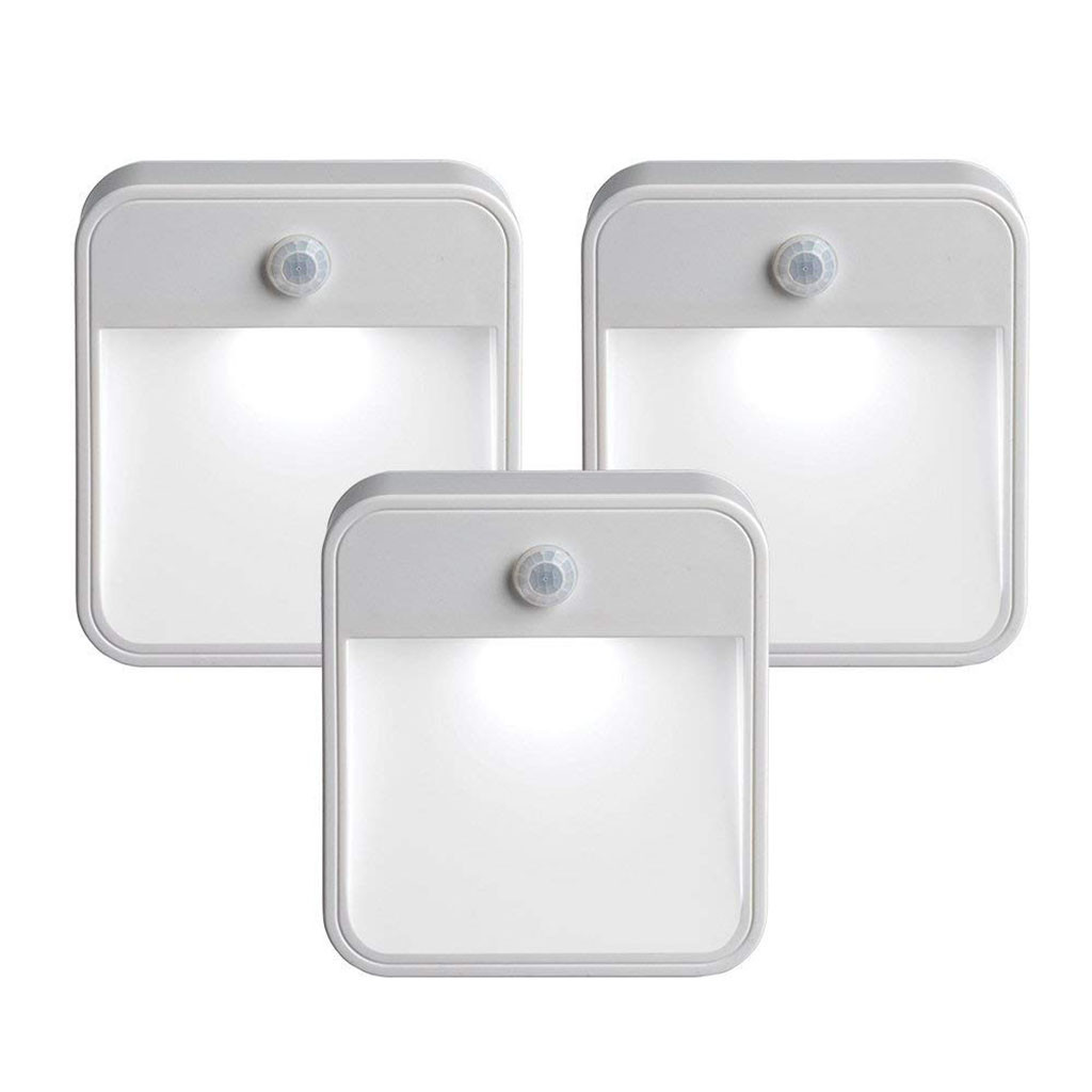 3pcs PIR Motion Sensor 6 Led Night Light Wireless Detector Light Wall Lamp Light Auto On/Off Closet Battery Powered Cabinet Lamp