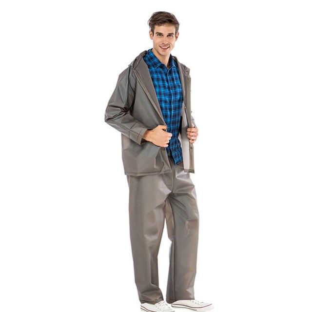 Yuding de plástico impermeable pantalones de lluvia impermeable y  transpirable impermeable dividir traje de lluvia para los hombres ... cfe20f96476