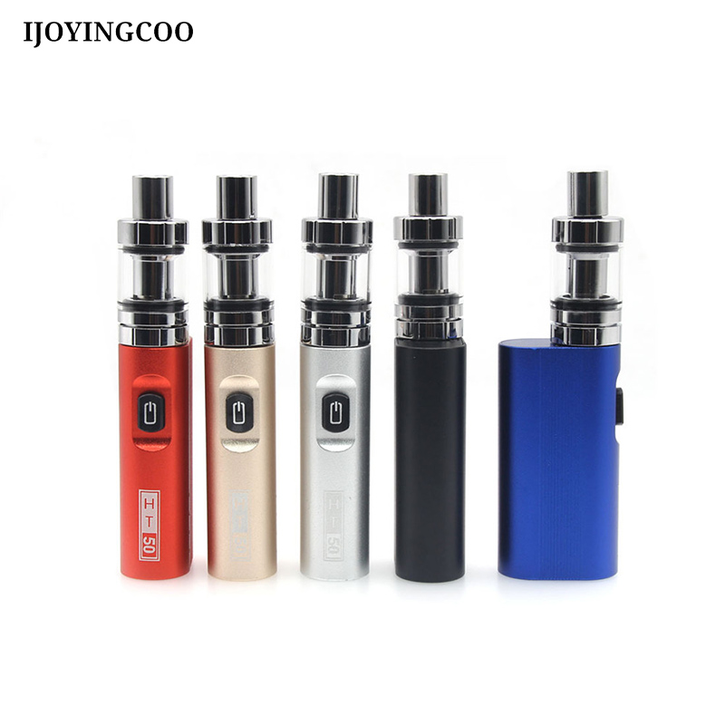 Electronic Cigarette Vape pen HT 50 Box Mod kit 2200mAh 0.5ohm ht50 50W E-Cigarette kits With 2ml Atomizer Tank Vaporize цены