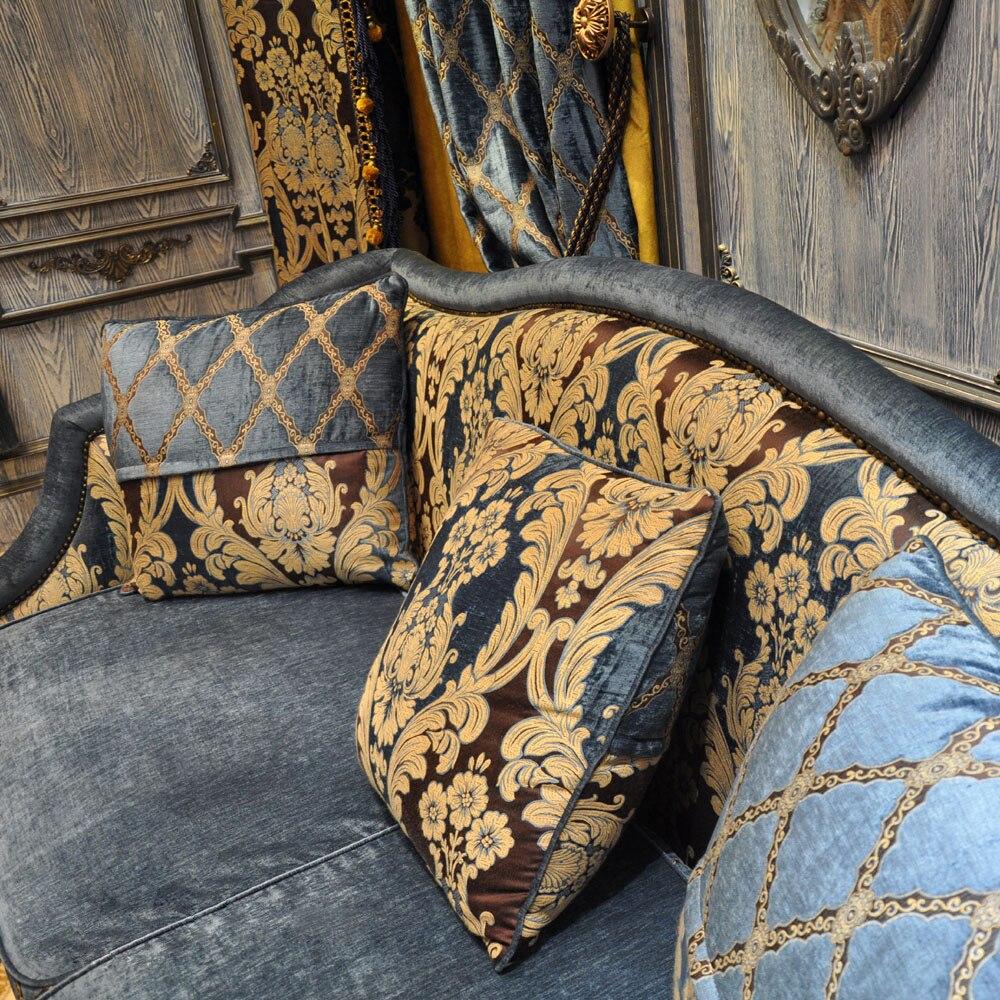 Işık Kraliyet Mavi Gökyüzü Mavi Altın Salon valance ile Kanca - Ev Tekstili - Fotoğraf 4