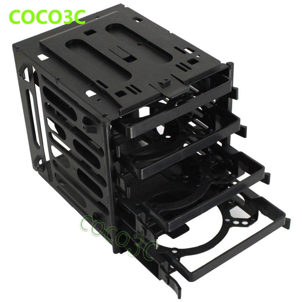 Plastic & staal 4-bay SSD-beschermbox voor 2,5