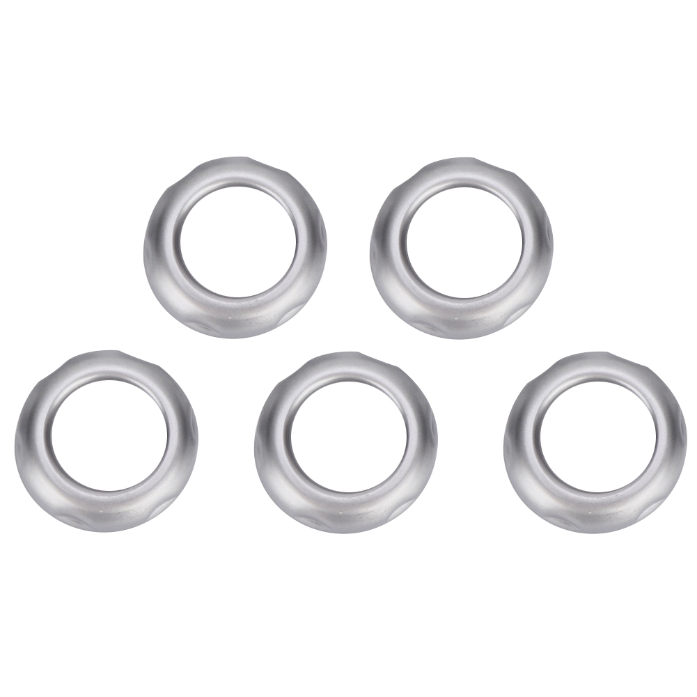 5Pcs Chromed Volume and Air Condition Knob Covers Fittings for Land Rover Freelander 2 2013 2014 2015 car accessories interior