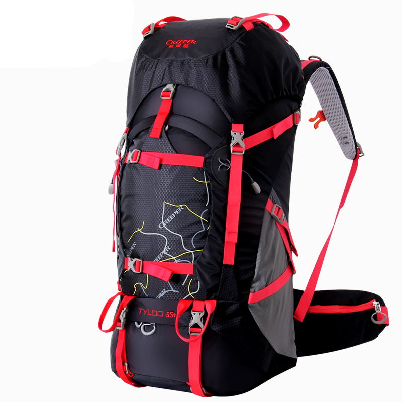 60L professional Travel Climbing Backpacks large capacity outdoor bag waterproof Nylon Camping Hiking Backpack frame Rucksack цена