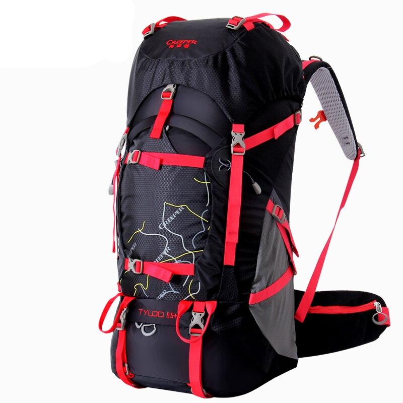 60L professionnel voyage escalade sacs à dos grande capacité en plein air sac étanche en Nylon Camping randonnée sac à dos cadre sac à dos