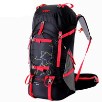 60L Professional Travel Climbing Backpacks Large Capacity Outdoor Bag Waterproof Nylon Camping Hiking Backpack Frame Rucksack