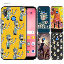 Silicone Case Cover for Huawei P20 P10 P9 P8 Lite Pro 2017 P Smart+ 2019 Nova 3i 3E Phone Cases Rick And Morty(China)