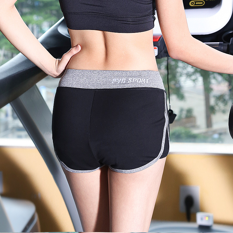 Summer thin section shorts female professional anti-light breathable quick dry fitness lined loose yoga wear