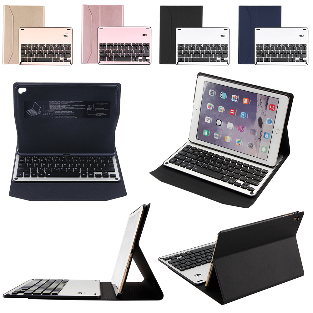 цены VKTECH Wireless Blutooth Keyboards Case w/ 7Colors Blacklit Black Light for iPad Air Air2 Pro  9.7'' Keyboard Case