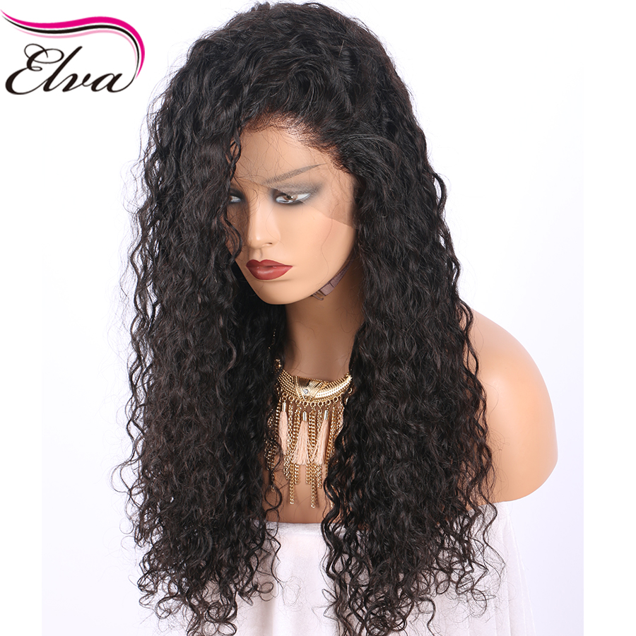 Lace Front Human Hair Wigs Pre Plucked Hairline Water Wave Brazilian Remy Hair Lace Wigs With Baby Hair Natural Color