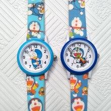 Cute Doraemon Jingle cat Kids Watches Girls Boys Baby Clock