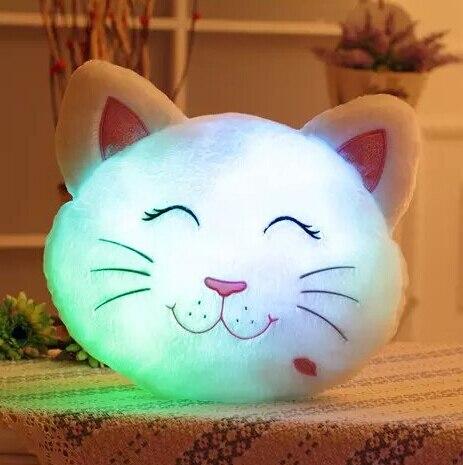 Новое светящийся кот мягкий свет кошка ночная из светодиодов световой плюшевые игрушки куклы подушки лучший подарок для детей YZT0125