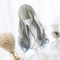 Lolita Wig Gradual Color Cute BW Body Wave Cosplay Wig for Adult Event Concert Hair